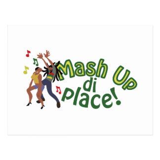 Mash Up Di Place Postcard