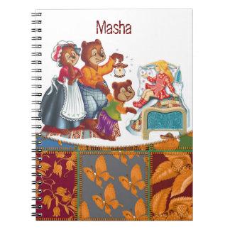 Masha and 3 bears notebook
