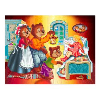 Masha and 3 bears postcard