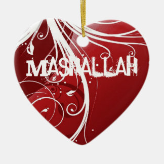 Mashallah islamic red ornament