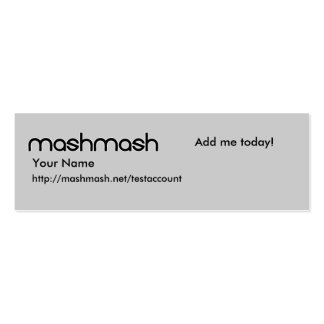 mashmash Profile Card Pack Of Skinny Business Cards