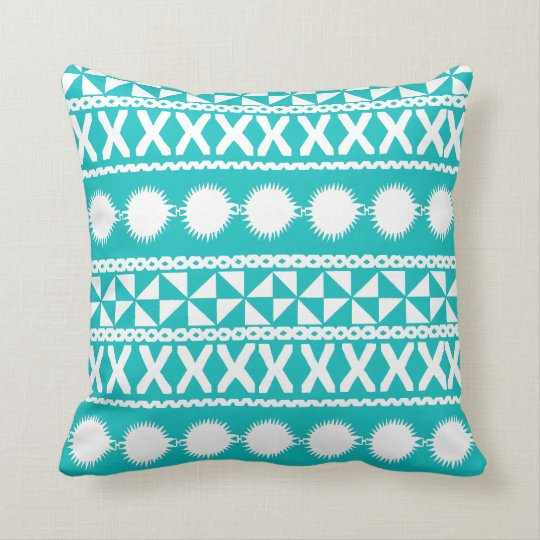 Masi Striped Pillow in Turquoise