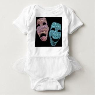 mask baby bodysuit