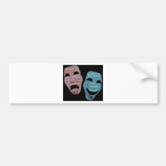mask bumper sticker