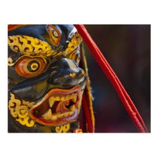 Mask dance performance at Tshechu Festival Postcard