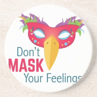 Mask Feelings Drink Coasters