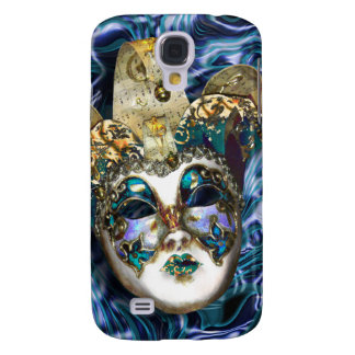 Mask gold blue Venetian masquerade