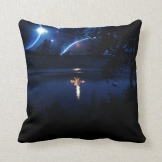 Mask In The Lake Throw Pillow