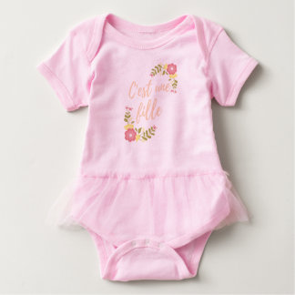 "Mask-layer ""It is a girl "" Baby Bodysuit"