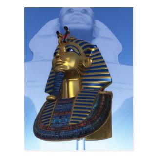 Mask of the pharaoh postcard