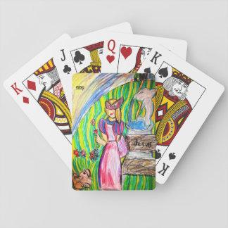 mask princess playing cards