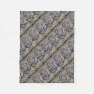Mask sketch fleece blanket