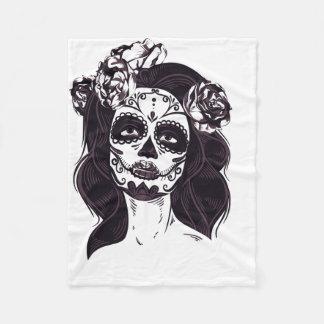 Mask Skull Fleece Blanket