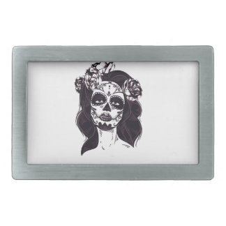 Mask Skull Rectangular Belt Buckles