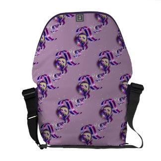 Mask venetian purple ribbons bubbles commuter bags