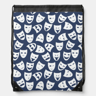 Mask w/ Different Emotions Pattern Drawstring Bag