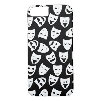 Mask w/ Different Emotions Pattern iPhone 8/7 Case