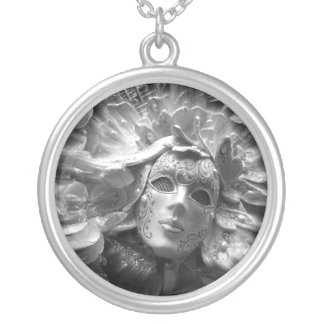 Masked Angel Silver Plated Necklace