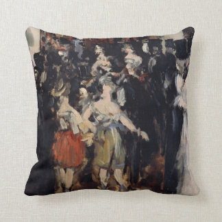 Masked Ball at the Opera by Edouard Manet Throw Pillow