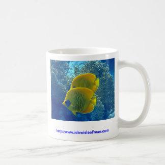 Masked Butterfly fish... on a mug! Basic White Mug