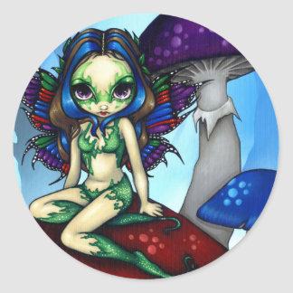 """Masked Fairy on the Mushrooms"" Sticker"