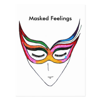 Masked Feelings Postcard