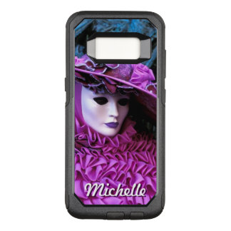 Masked Lady With Purple Peach Basket Hat OtterBox Commuter Samsung Galaxy S8 Case