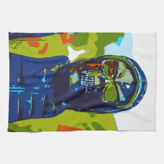 Masked man kitchen towel