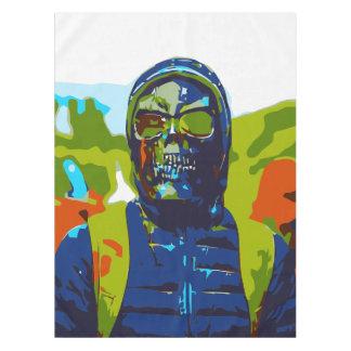 Masked man tablecloth
