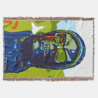 Masked man throw blanket