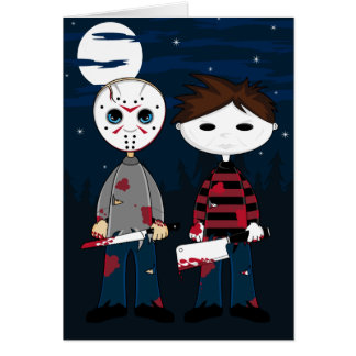Masked Serial Killers Greeting Card