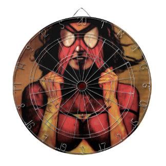 Masked Woman Dartboard