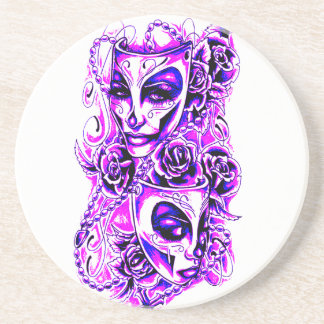 Masks Beverage Coasters