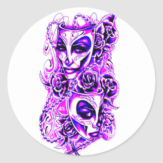 Masks Classic Round Sticker