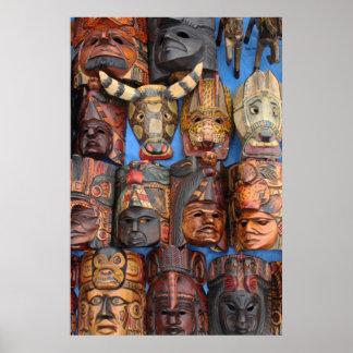 Masks, Guatemala Poster