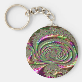 Masks of Jealousy Fractal Keychain