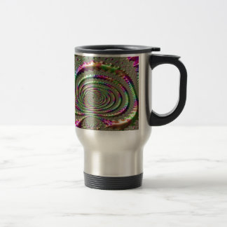 Masks of Jealousy Fractal Travel Mug