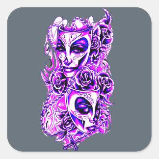 Masks Square Sticker