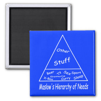 Maslow s Hierarchy of Needs Fridge Magnet