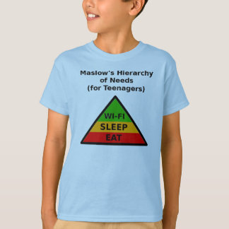 Maslow's Hierarchy of Needs (for Teenagers) T-Shirt