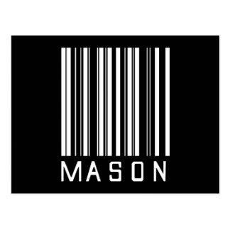 Mason Bar Code Postcard