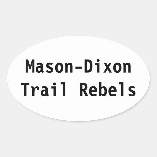 Mason-Dixon Trail Rebels Sticker