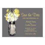 Mason Jar and Daisies Save the Date Custom Invite