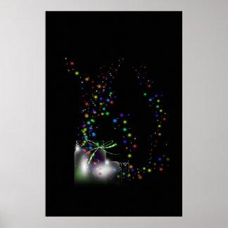 Mason Jar and Fireflies Posters