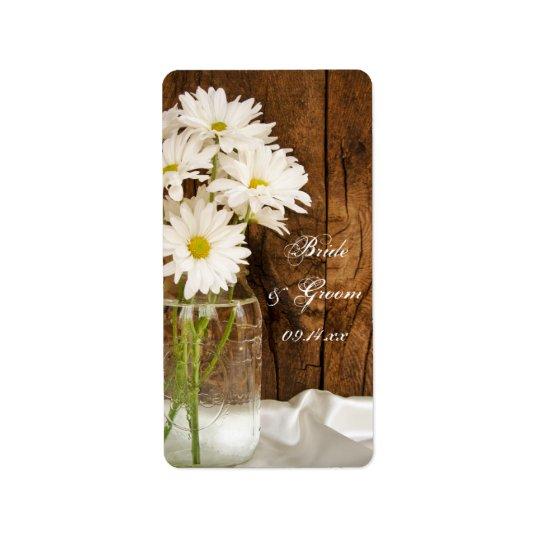 Mason Jar and White Daisies Country Wedding