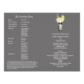 Mason Jar and Wildflower Wedding Program