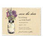 Mason Jar & Autumn Wildflowers Save the Date