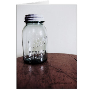 Mason Jar Blank Note Card