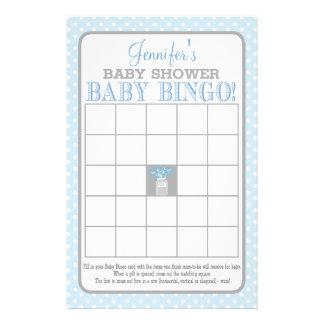 Mason Jar (blue) Baby Bingo Flyer