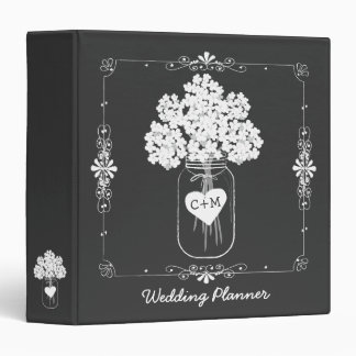 Mason Jar Bride's Wedding Planner Binder